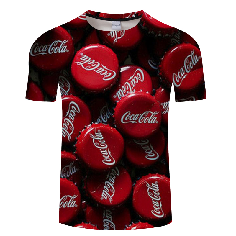 2018 Summer Casual 3D Print T shirt Coke Anime T-shirt Men Women Streetwear Short Sleeve Loose TopTee Tshirt Asian size s-6xl