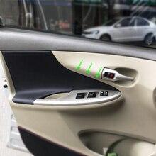 マイクロファイバー革インテリアカースタイリングドアパネルの場合はトリムカバートヨタカローラ 2007 2008 2009 2010 2011 2012 2013