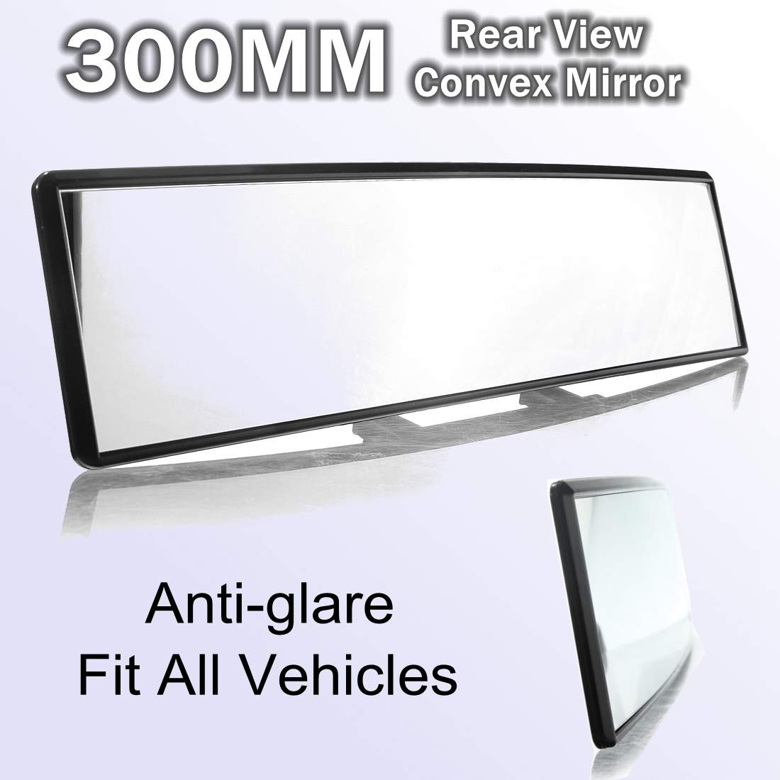 300MM Universal Car Interior Convex Wide Large-view Anti-glare Rearvew Mirror