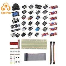 Raspberry Pi 3 Modello B +/4B 37 IN 1 Sensori Kit con il grande tagliere Starter Kit