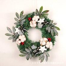 Creative Red Fruits Kapok Christmas Wreath PVC Green Home Mall Window Decoration Pendant Festival Supplies