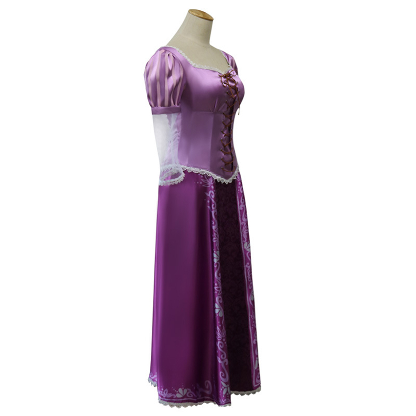 Image 5 - Halloween carnival Party Cosplay Princess tangled Rapunzel Fancy Dress Adult Costumes For Costumes For Women long wig Christmas-in Movie & TV costumes from Novelty & Special Use