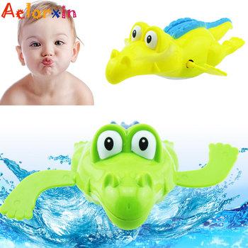 1 sztuk zwierząt krokodyl pływanie zabawki z kreskówek mechaniczne zabawki dla dzieci chłopcy skończyć zabawki dla dzieci noworodka mechaniczne zabawki dla dzieci tanie i dobre opinie Aelorxin Z tworzywa sztucznego Pull powrót Don t eat Unisex Likwidacji 3 lat