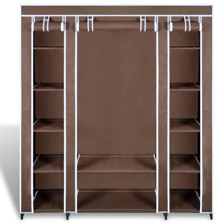 VidaXL placard pliable en tissu Non tissé armoire Portable moderne armoire Simple ménage tissu pliant rangement placard - 3
