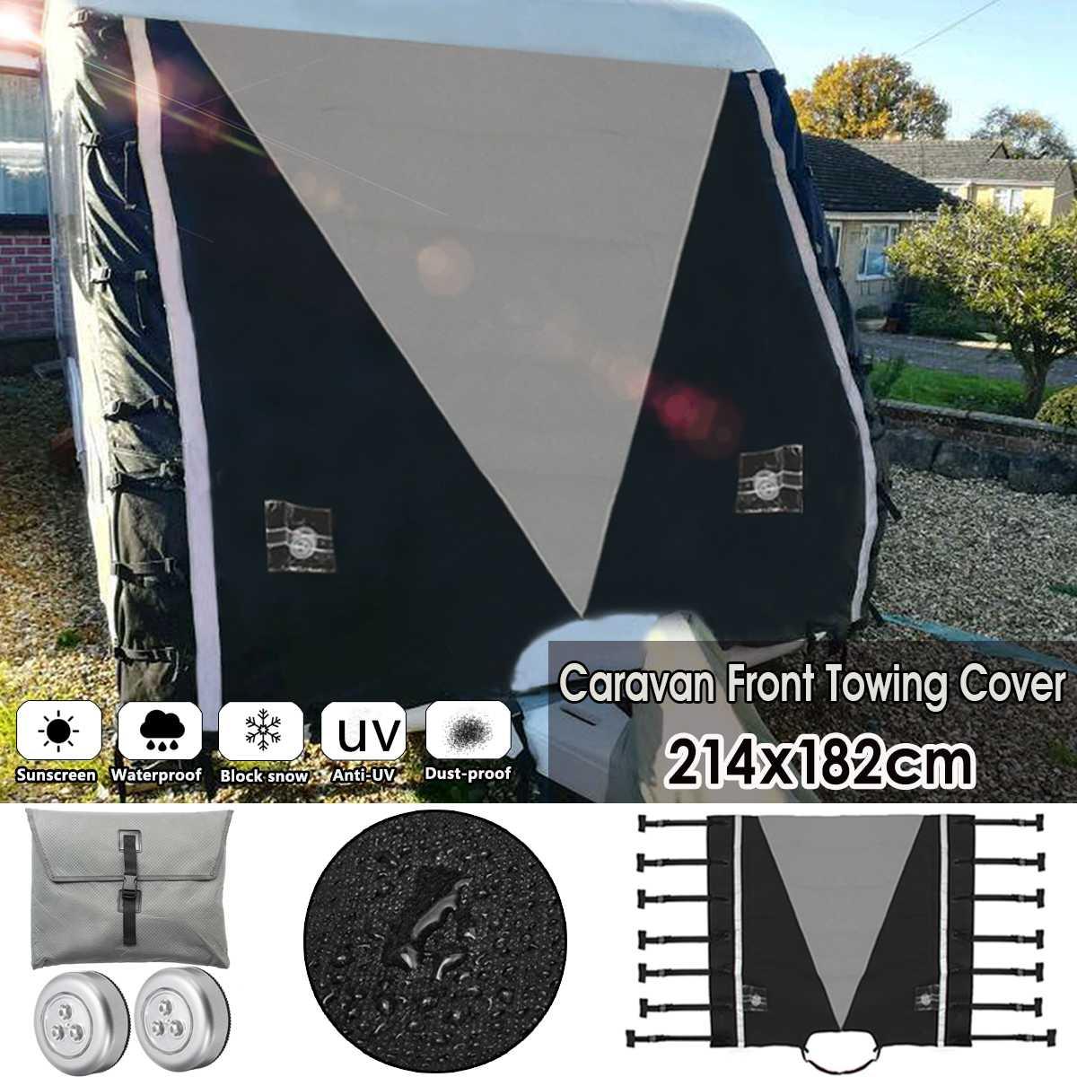 Protection universelle grise de couverture de remorquage avant de caravane de RV avec des lumières de LED pour le camping-car de caravane de RV