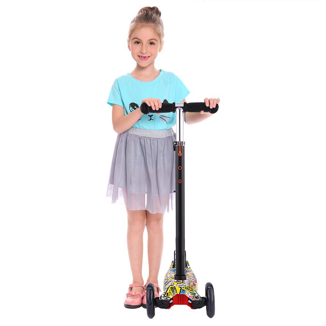 ANCHEER Height Adjustable Children Scooter with Flashing Light and 3 Wheels 2