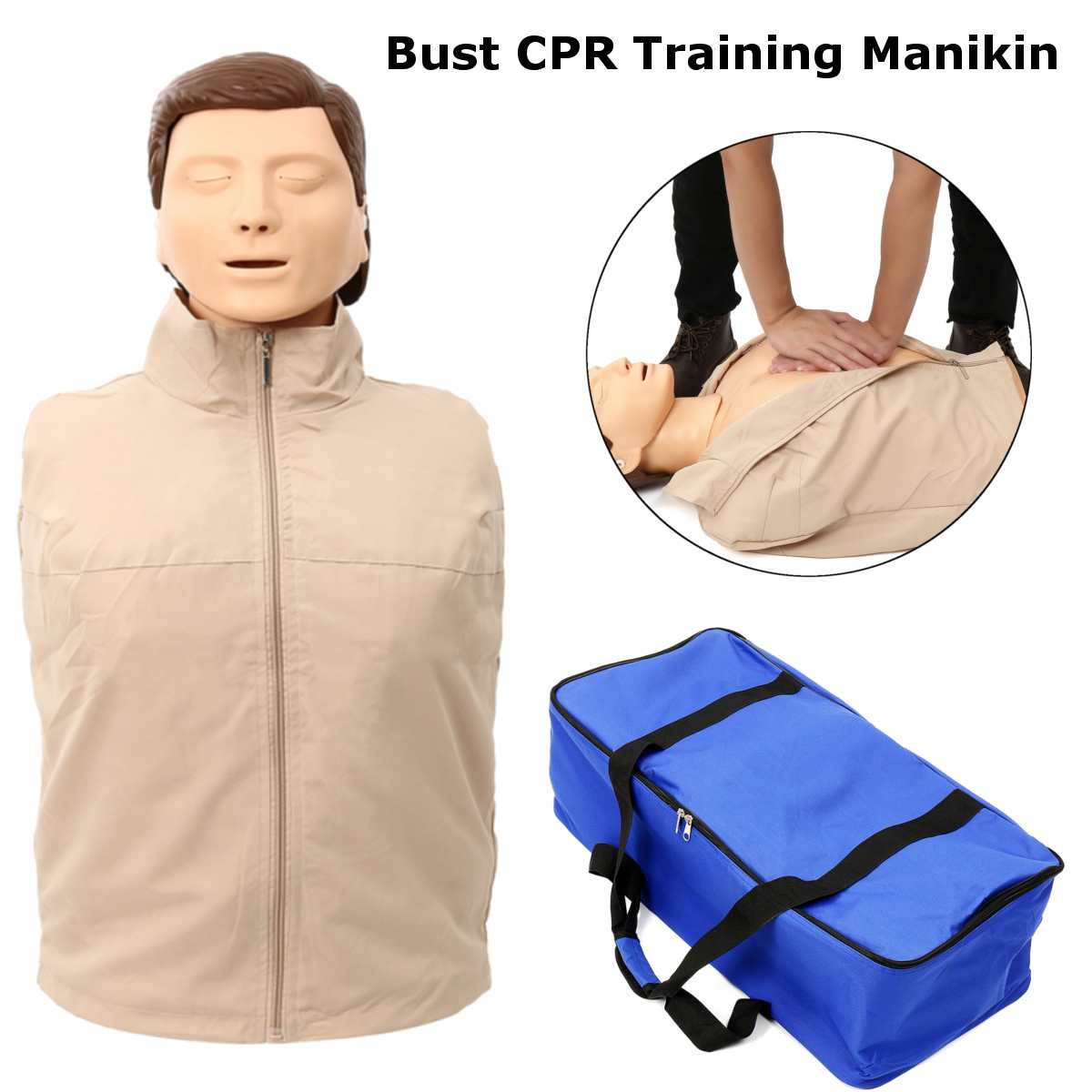 70x22x34cm Bust CPR Training Manikin Professional Nursing Training Mannequin Medical Model Human First Aid Training Model New