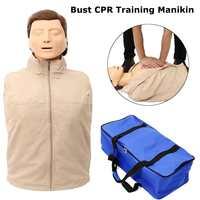 70x22x34cm Bust CPR Training Manikin Professional Nursing Training Mannequin Medical Model Human First Aid Training Model New