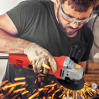 220V 1020W Multifunctional Angle Grinder Power Tool 12000rpm/Min Comfortable and Lightweight Abrasive Tools with Side Handle