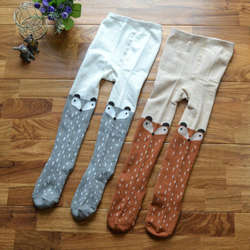 Новые Симпатичные Детская одежда для девочек хлопок лиса колготки с животными чулки брюки трикотажные колготки