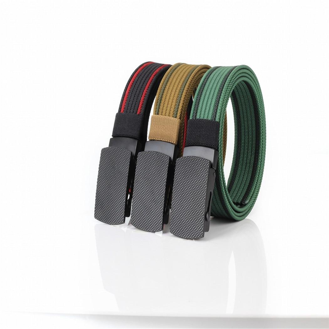 Mens Canvas Belt Military Tactical Waist Belt Plastic Buckle Webbing Waistband