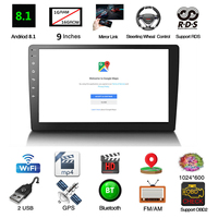 9 ''стерео 2DIN Android 8,1 4 ядра стерео радио осязаемый bluetooth, Wi Fi DAB gps навигатор радио Видео плеер