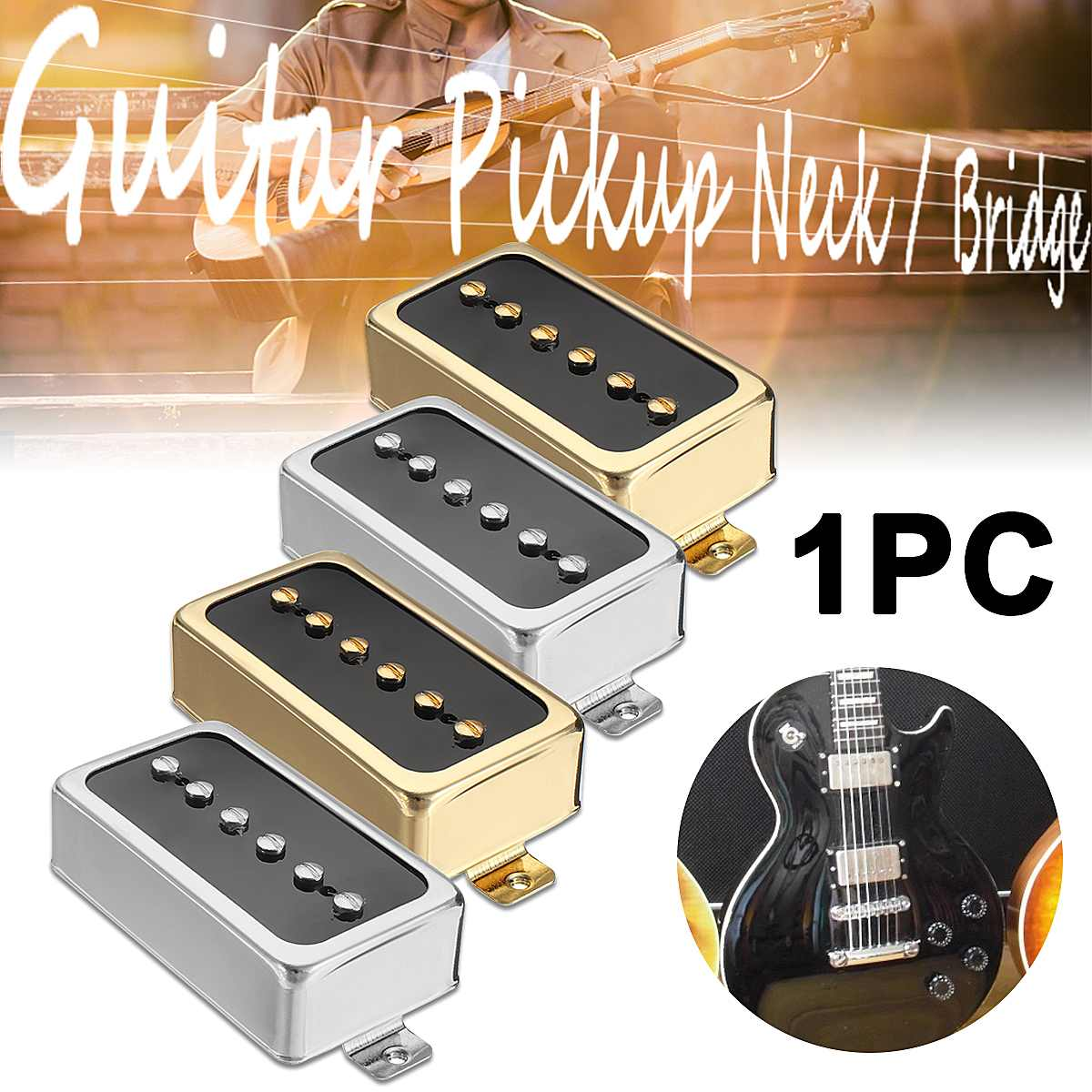 vintage alnico v soapbar p90 electric guitar pickup humbucker size single coil pickup neck. Black Bedroom Furniture Sets. Home Design Ideas