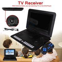 1800mAh 13.8 Game Remote Control Portable Home Car DVD Player 270 D Screen Anti shock USB SD Card TV Program Search Function
