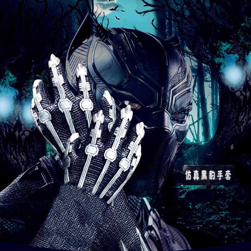 Косплей черная маска Пантеры перчатка латекс Капитан Америка 3 Marvel Civil War Hero Prop Хэллоуин костюм аксессуары