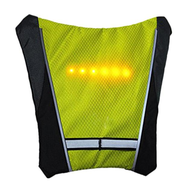 Bicycle Wireless Remote Control Warning LED Light Turn Signal Light Backpack Vest Reflective Safety Vest Outdoor Waterproof