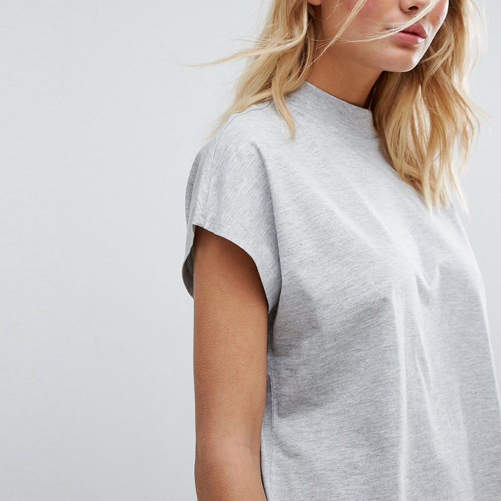 HDY Haoduoyi  New Women Summer Simple Commuter Round Neck Loose Sports Casual T-shirt