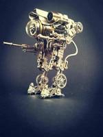 2019 Steampunk Machinery Public Enemy Robot Model Mechanical Warrior Creative Metal Steel DIY Toy Gift War Machine