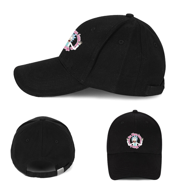 75cd9c569114 Giancomics Anime Baseball Cap Rick Morty Series Symbol Pattern Cool  Adjustable Hat Beanie Cotton Fashion Otaku Handsome Cosplay
