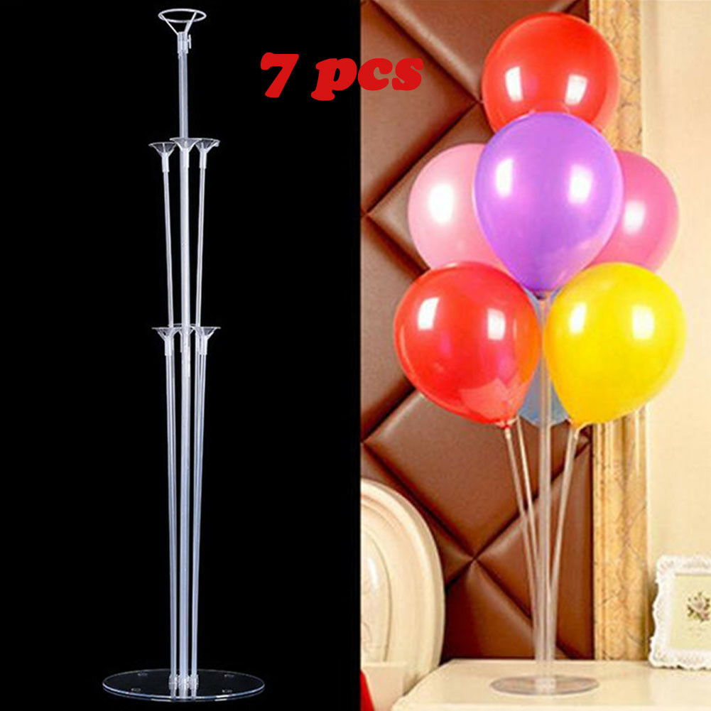 1 Set Balloons Column Stand Plastic Balloon Support With 7 -5957
