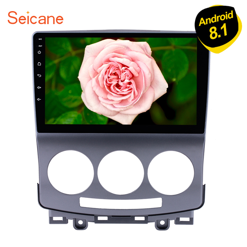 Seicane 9 Inch 2Din GPS Head Unit Android 8.1 For 2005 2010 Old Mazda 5 Car Stereo Multimedia Player With Bluetooth Mirror Link