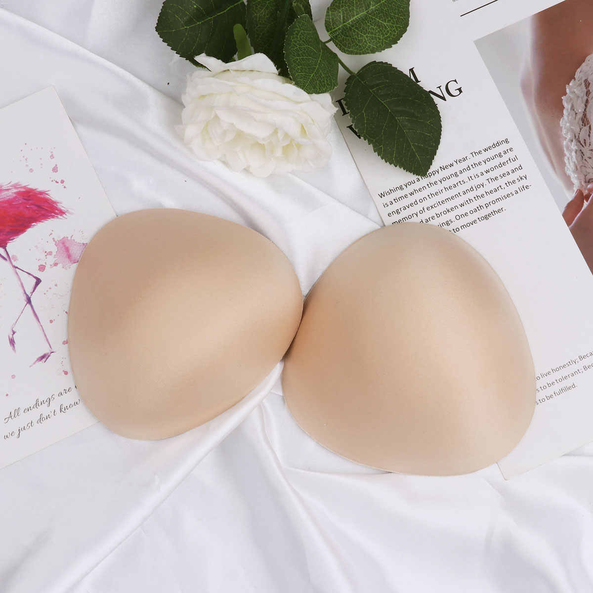 688c1e134a5 1 Pair Women Insert Bra Inserts Pads Waterdrop Shaped Push Up Fake Breast  Insert Comfortable for