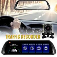 2019 New Dash Cam 10 inch Rearview Mirror 1080P Dual lens Reversing Image Traffic Recorder Car Dvr Drop Shipping