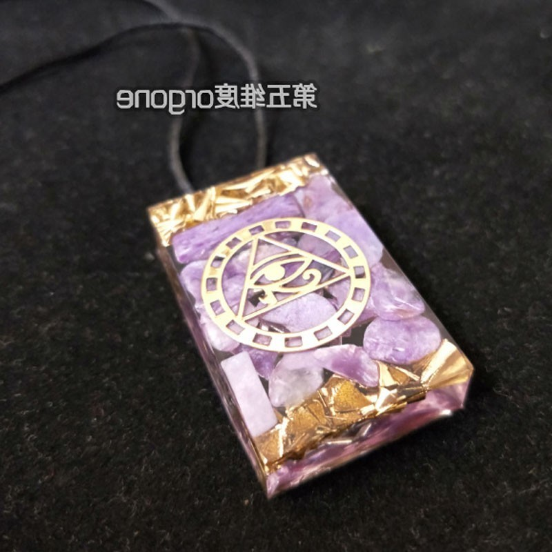 Orgonite Crystal Positive Energy Healing Necklace Men And Women Resin Stone Chakra Necklace Symbolizing Business Fortune Pendant