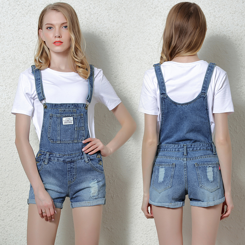 Fshion Sling Short Denim   Jumpsuit   Rompers For Women Summer Jeans Overalls Casual Shorts Playsuits Slim Dungarees Femme 2019 New