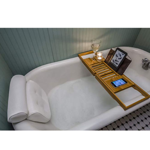Bath Tub Spa Non-Slip Cushioned Bath Tub Spa Pillow Bathtub Head Rest Pillow With Suction Cups For Neck And Back Bathroom Supply