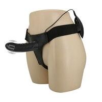 Sex Multi Speed Strapon Dildo Vibrator Wearable Hollow Penis Briefs Lesbian Strap on Harness Dildo Cock Adult Toys For Women Men
