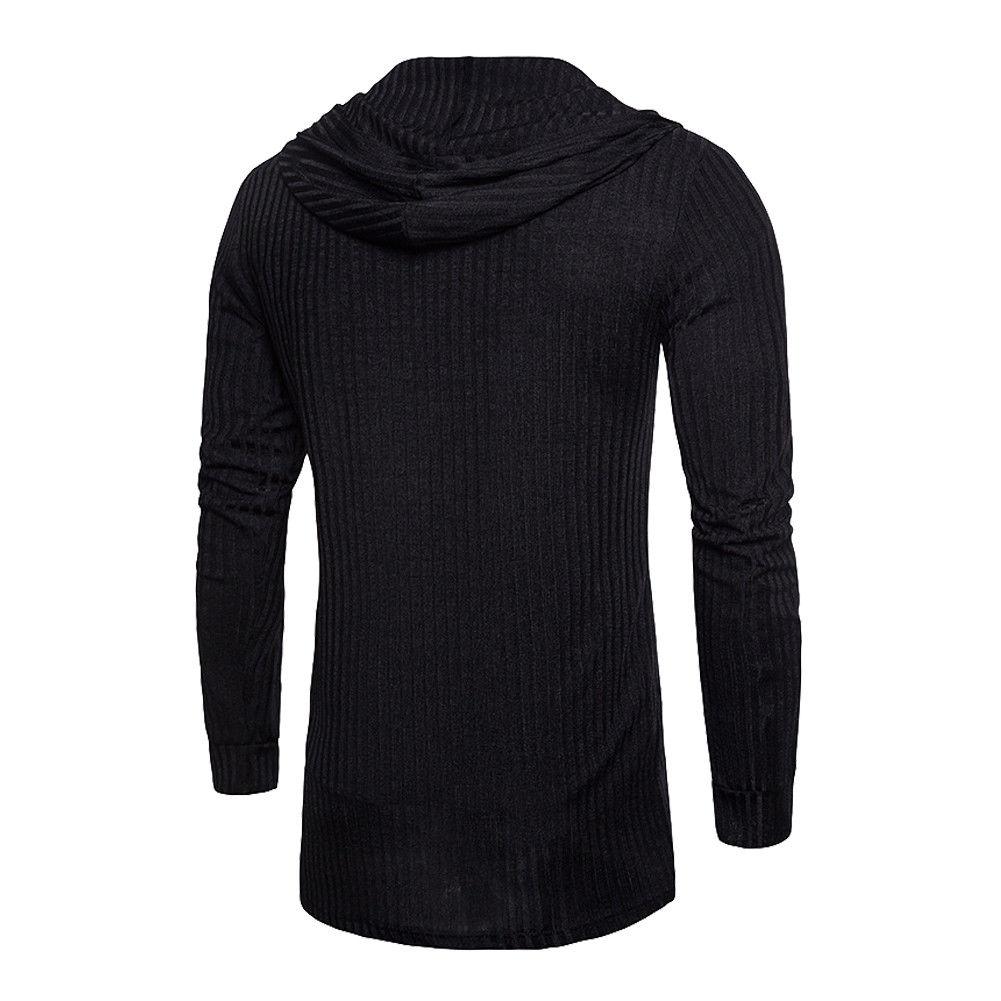Sweater Cardigan Men 2018 Male Brand Casual Slim Sweaters Men Solid Hooded Pockets Men's Sweater Plus Size XXXL 2