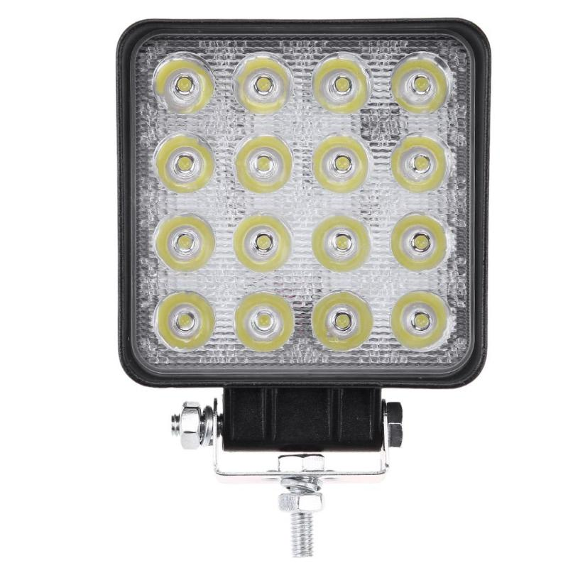 5 in 48W 3520LM Square <font><b>16</b></font> <font><b>LED</b></font> Spot Work Light Waterproof Driving <font><b>Fog</b></font> <font><b>Lamp</b></font> for Offroad Car Truck Boat Car Light image
