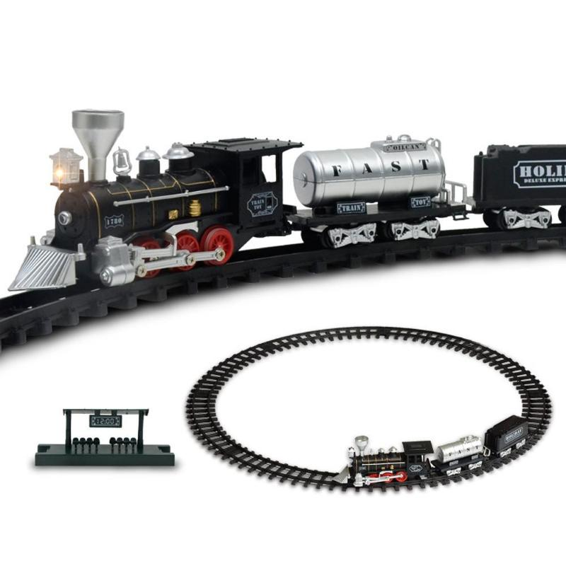 1 Pc Classic Electric Dynamic Steam Rc Train Train Set Simulation Track Model Toy Classic Children Railroad Conveyance Toys Set