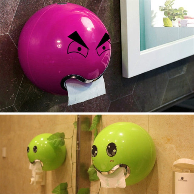 Xueqin 1 PC Wall Mounted Paper Holders Bathroom Toilet Paper Roll Holder Tissue Rolling Paper Holder Box