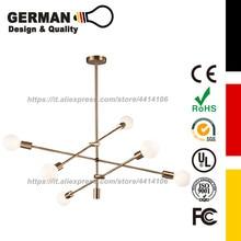 GERMAN Design and Quality Modern 4&6-Light Chandelier, ,Brass, Lamp type:E26/E27