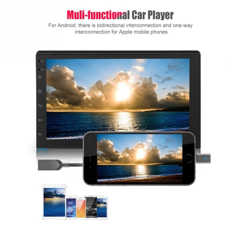 7 wifi Doppel 2 Din Autoradio Stereo Multimedia Bluetooth Player Hd Screen Gps Antenne 1 Radio 16g Für Android 8.1 Smart Os AusgewäHltes Material