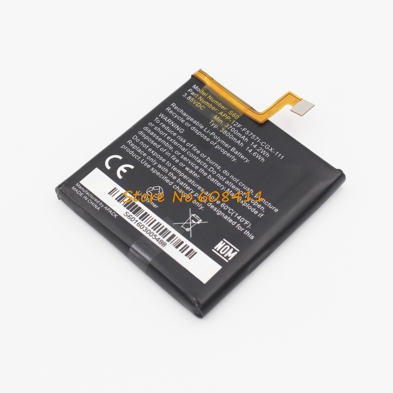 VK 3.8V 3800mAh 14.6Wh S60 Battery Replacement APP-12F-F57571-CGX-111  For Caterpillar CAT S60 Rechargeable Batteries