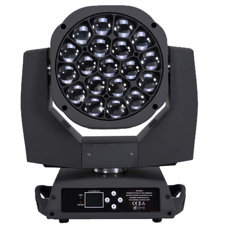 6 шт./лот Профессиональный dj оборудование 19*15 W 4 в 1 RGBW большой пчелы глаз K10 зум перемещение головы мыть свет этапа Kaleido с эффектом DMX
