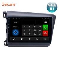 Seicane 10,1 дюймов Android 7,1/8,1 4 ядра автомобиля Радио мультимедийный плеер для 2012 2013 Honda Civic gps навигации с Wi Fi DVR