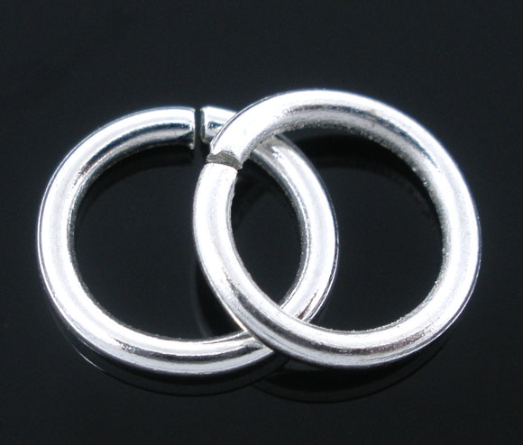 Lovely 300 PCs Silver Plated Open Jump Rings Findings 1.2x9mm (B04409)