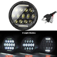 1PC H4 300W 6500k 7 inch Car LED Headlight 30000lm Lumen IP67 Waterproof with H13 Adapter Cable for Jeep Off road Vehicle SUV