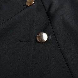 2019 Elegant Party Double Breasted Dress Fashion Solid Black White V-neck Femme Dress Slim OL Formal Vestidos De Verano Jurken 6