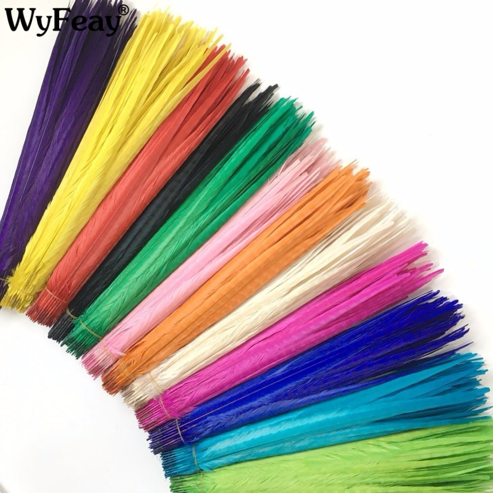 Wholesale 50Pcs Lot Pheasant Tail Feathers 20 22inch 50 55CM Wedding Decorations Natural Dyed Pheasant Feathers