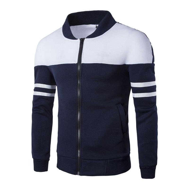 2019 Spring Autumn Men Golf Jackets Coat Striped Patchwork Slim Fit Jackets For Men Casual Sport Jacket Male Man Sportwear Tops