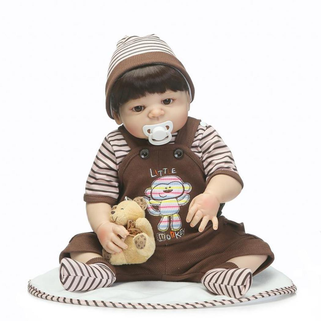 Vinyl Reborn Baby Doll Toys Lifelike Child Birthday Xmas Gift Kids Soft Silicone Realistic With Clothes Reborn Baby