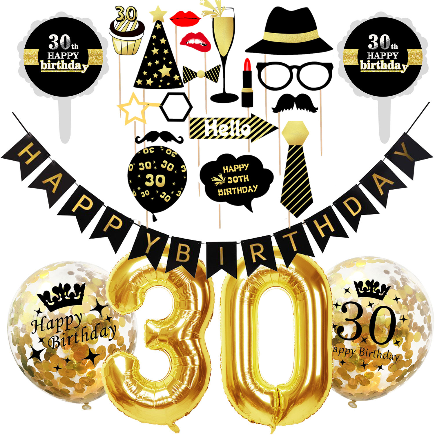 ZLJQ 10pcs Gold Latex Air Balloons Gold 18 30 40 50 60 <font><b>70</b></font> 80 Years Happy <font><b>Birthday</b></font> <font><b>Party</b></font> Decorations Adult Foil Helium Balloon image