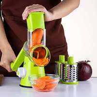 WKuii Hand Cranked Vegetables Slicer Potato Carrot Cucumber Cutter Shredder Cheese Grater Home Kitchen Cooking Tools Knife Green