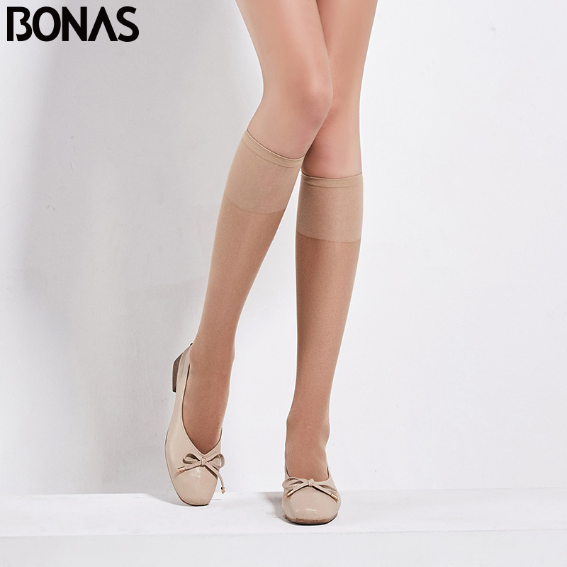 BONAS 2pairs Women Girls Stockings Fashion Spring Summer Opaque Over Knee Thigh High Elastic Stocking Dance Pantyhose Breathable