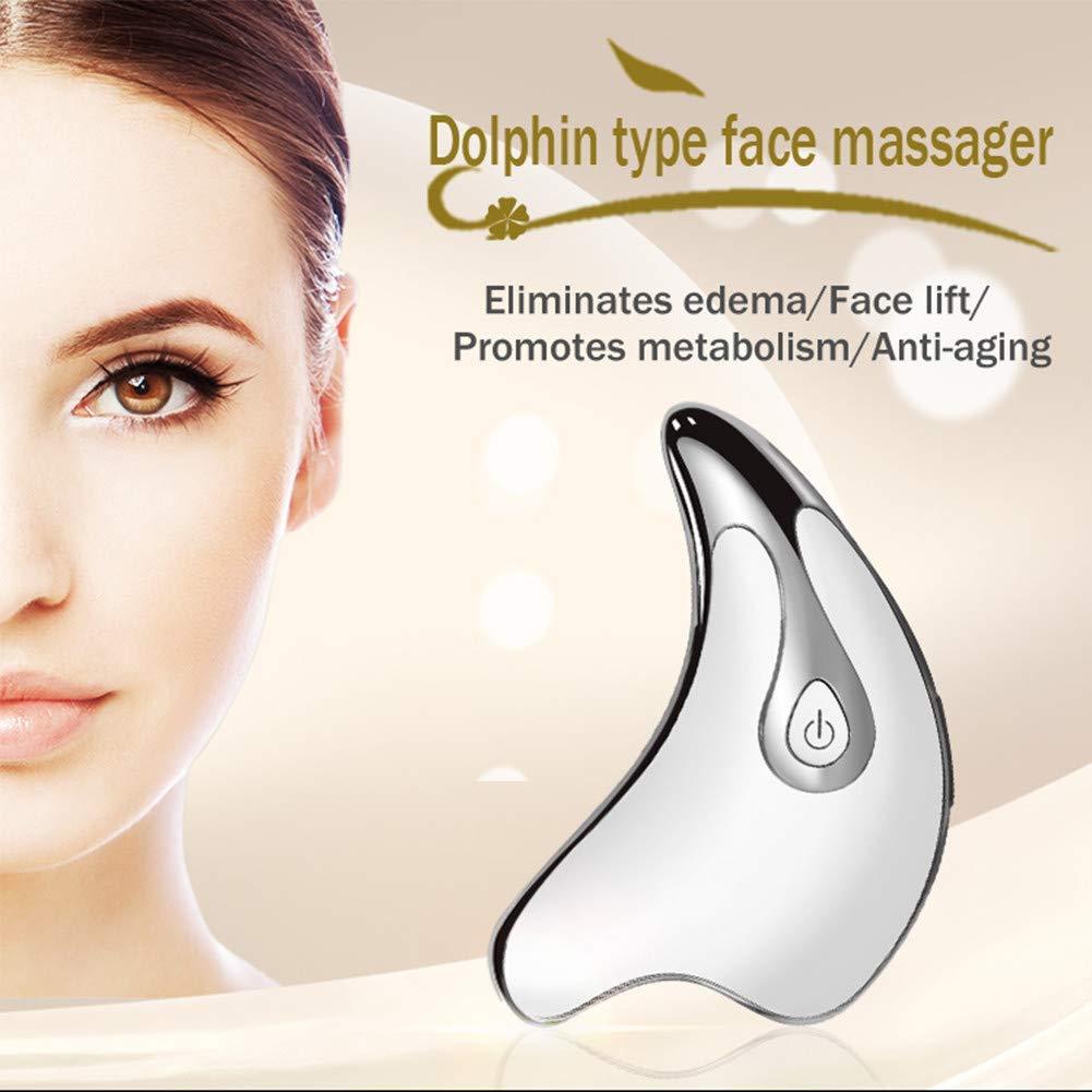 Imagen de Electric Facial Lifting Beauty Instrument Dolphin Shape For Face Guasha Scraping Triangle Facial Beauty Tool